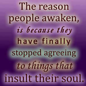 The reason people awaken